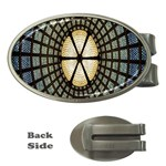 Stained Glass Colorful Glass Money Clips (Oval)  Front