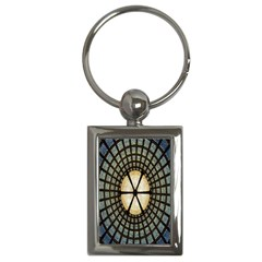 Stained Glass Colorful Glass Key Chains (Rectangle)