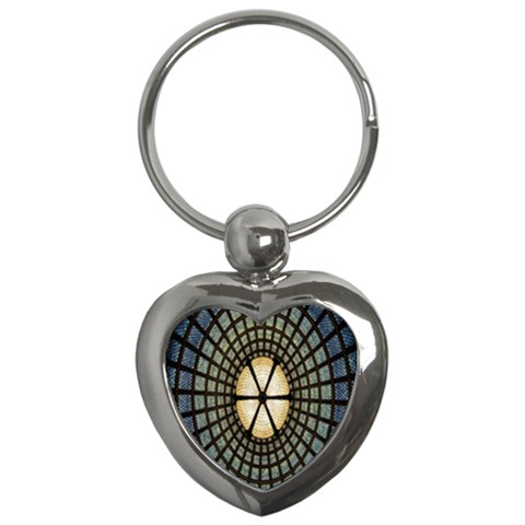 Stained Glass Colorful Glass Key Chains (Heart)