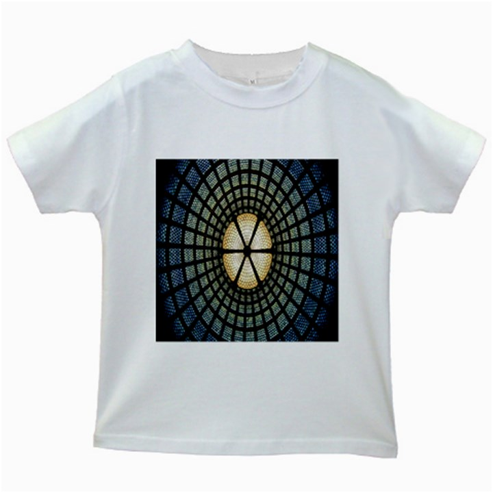 Stained Glass Colorful Glass Kids White T-Shirts