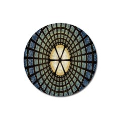 Stained Glass Colorful Glass Magnet 3  (Round)