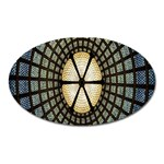 Stained Glass Colorful Glass Oval Magnet Front