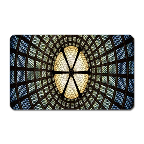 Stained Glass Colorful Glass Magnet (Rectangular)