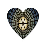 Stained Glass Colorful Glass Heart Magnet Front
