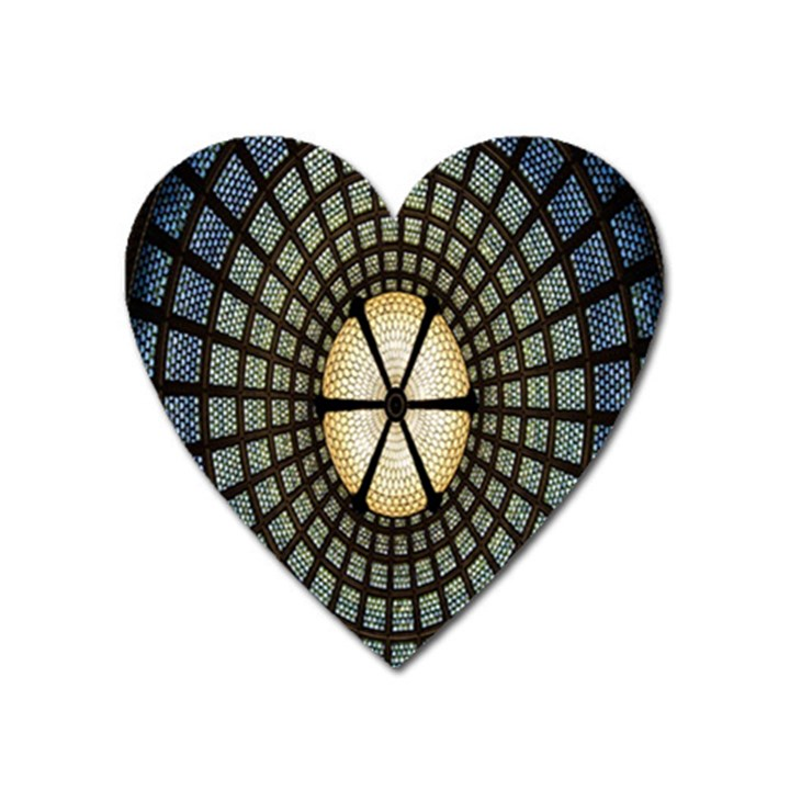 Stained Glass Colorful Glass Heart Magnet