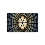 Stained Glass Colorful Glass Magnet (Name Card) Front