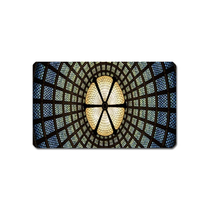 Stained Glass Colorful Glass Magnet (Name Card)