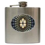 Stained Glass Colorful Glass Hip Flask (6 oz) Front