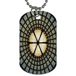 Stained Glass Colorful Glass Dog Tag (Two Sides) Front