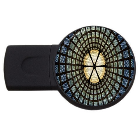 Stained Glass Colorful Glass USB Flash Drive Round (1 GB)
