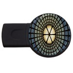 Stained Glass Colorful Glass USB Flash Drive Round (1 GB)  Front