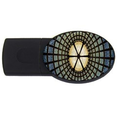 Stained Glass Colorful Glass USB Flash Drive Oval (1 GB)