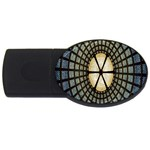 Stained Glass Colorful Glass USB Flash Drive Oval (1 GB)  Front