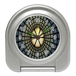 Stained Glass Colorful Glass Travel Alarm Clocks Front