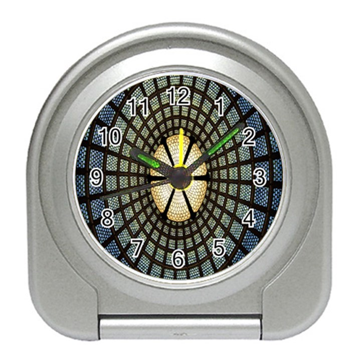 Stained Glass Colorful Glass Travel Alarm Clocks