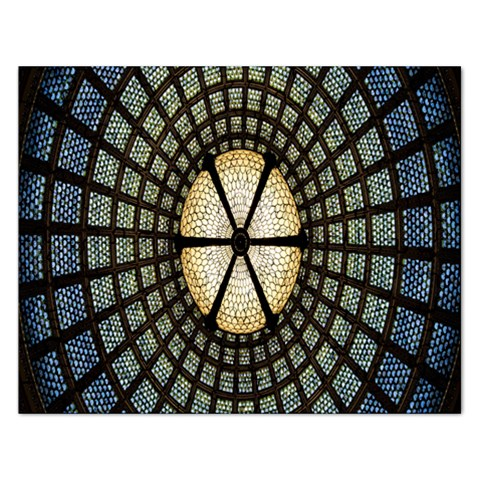 Stained Glass Colorful Glass Rectangular Jigsaw Puzzl