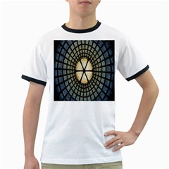 Stained Glass Colorful Glass Ringer T-Shirts