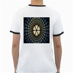 Stained Glass Colorful Glass Ringer T-Shirts Back