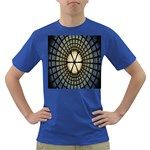 Stained Glass Colorful Glass Dark T-Shirt Front