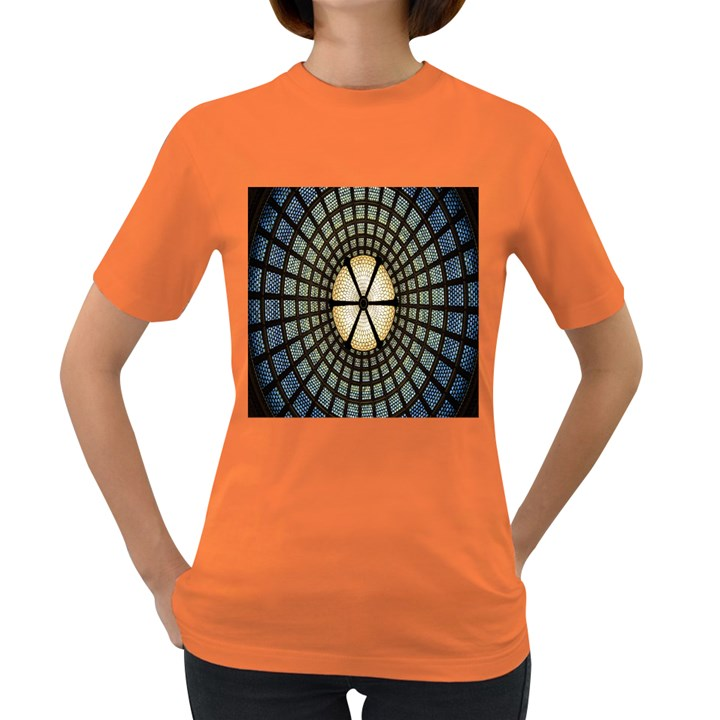 Stained Glass Colorful Glass Women s Dark T-Shirt