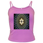 Stained Glass Colorful Glass Dark Spaghetti Tank Front