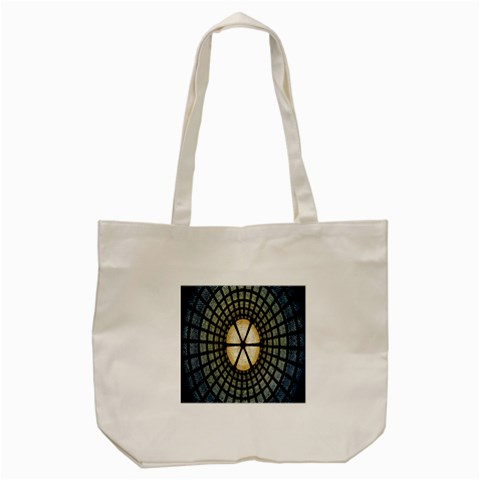Stained Glass Colorful Glass Tote Bag (Cream)