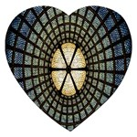 Stained Glass Colorful Glass Jigsaw Puzzle (Heart) Front