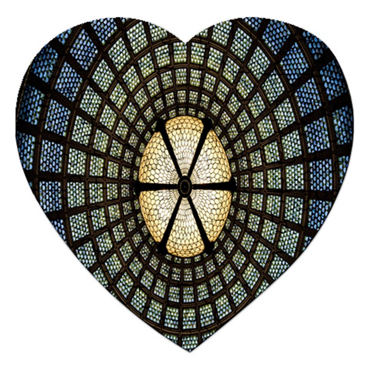 Stained Glass Colorful Glass Jigsaw Puzzle (Heart)