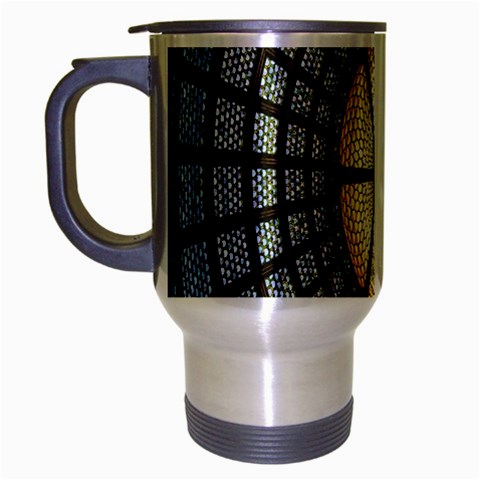 Stained Glass Colorful Glass Travel Mug (Silver Gray)