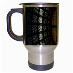 Stained Glass Colorful Glass Travel Mug (Silver Gray) Left