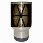 Stained Glass Colorful Glass Travel Mug (Silver Gray) Center