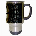 Stained Glass Colorful Glass Travel Mug (Silver Gray) Right