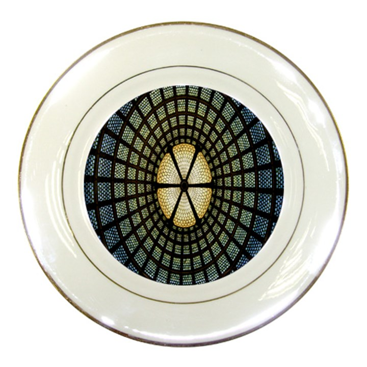 Stained Glass Colorful Glass Porcelain Plates