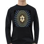 Stained Glass Colorful Glass Long Sleeve Dark T-Shirts Front