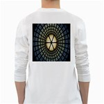 Stained Glass Colorful Glass White Long Sleeve T-Shirts Back