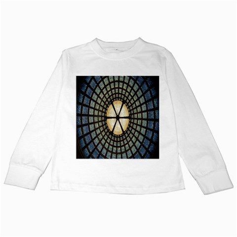 Stained Glass Colorful Glass Kids Long Sleeve T-Shirts