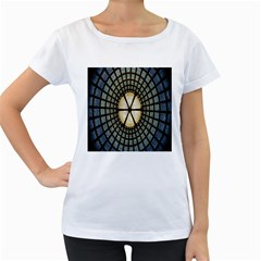 Stained Glass Colorful Glass Women s Loose-Fit T-Shirt (White)