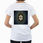 Stained Glass Colorful Glass Women s Loose-Fit T-Shirt (White) Back