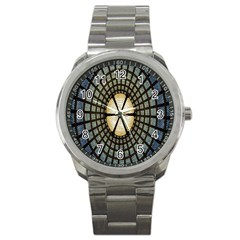 Stained Glass Colorful Glass Sport Metal Watch