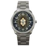 Stained Glass Colorful Glass Sport Metal Watch Front