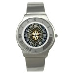 Stained Glass Colorful Glass Stainless Steel Watch Front