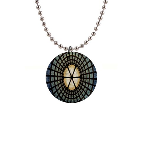Stained Glass Colorful Glass Button Necklaces