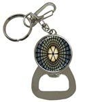 Stained Glass Colorful Glass Bottle Opener Key Chains Front