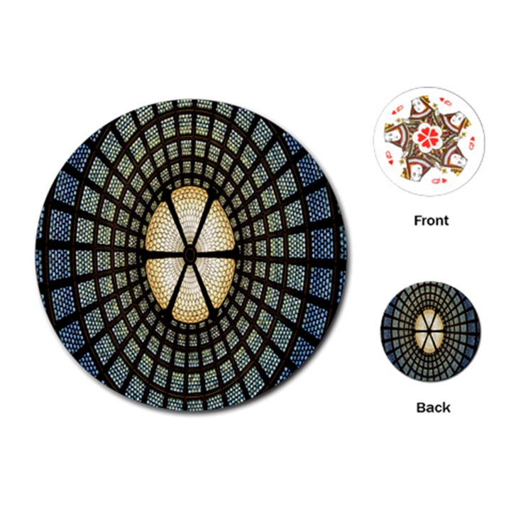 Stained Glass Colorful Glass Playing Cards (Round)