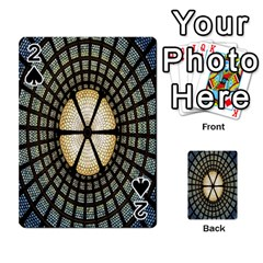 Stained Glass Colorful Glass Playing Cards 54 Designs