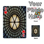 Stained Glass Colorful Glass Playing Cards 54 Designs  Front - Heart2