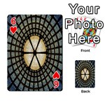 Stained Glass Colorful Glass Playing Cards 54 Designs  Front - Heart6