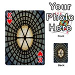 Stained Glass Colorful Glass Playing Cards 54 Designs  Front - HeartK