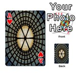 Stained Glass Colorful Glass Playing Cards 54 Designs  Front - HeartA