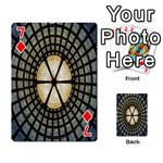 Stained Glass Colorful Glass Playing Cards 54 Designs  Front - Diamond7